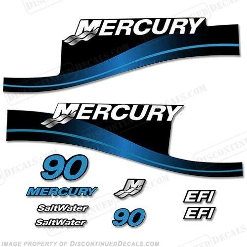 Mercury 90hp Außenbord Kit Aufkleber Blau oder Rot 90 1999-2004 Alle Modelle