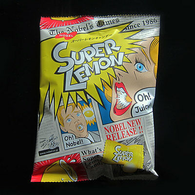 Japan Nobel Super Lemon Candy Super Sour Lemon flavour Fruit Juicy Candies New
