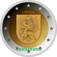 LETTONIA 2017 2 EURO LATGALE REGIONI STORICHE NR 3/4 LATVIA LETTONIE  ЛАТВИЯ