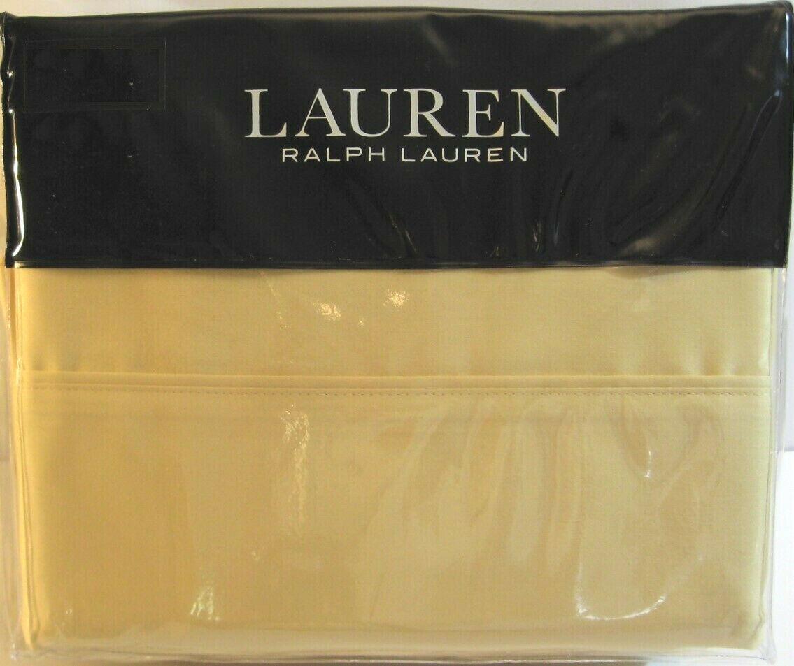 Ralph Lauren 4 PC Cotton Cotton Cotton Dunham Sateen Sheet Set Solid Italian Straw Queen - NEW 5d951e