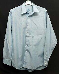 """HUGO BOSS Vintage Long Sleeve Shirt Classic Fit 39 Pale Green 42"""" Chest Cotton"""