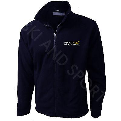 "Regatta Jacket Mens Fleece Micro Full Zip New Embroidered Logo New Regatta ""R"""