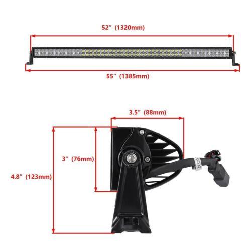 "5D 22/"" 32/"" 42/"" 52inch CREE R LED Rock Light Bar GB Glow Multi Color Bluetooth"