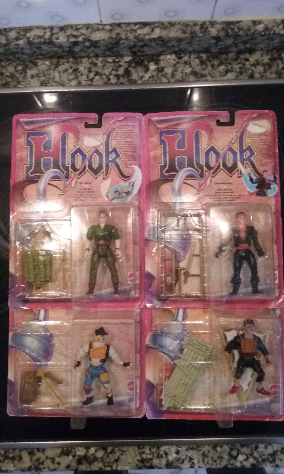 Lot Lote x4 HOOK Mattel Moc New 1991 Peter Pan Rufio Ace Lost Boy Vtg Vintage
