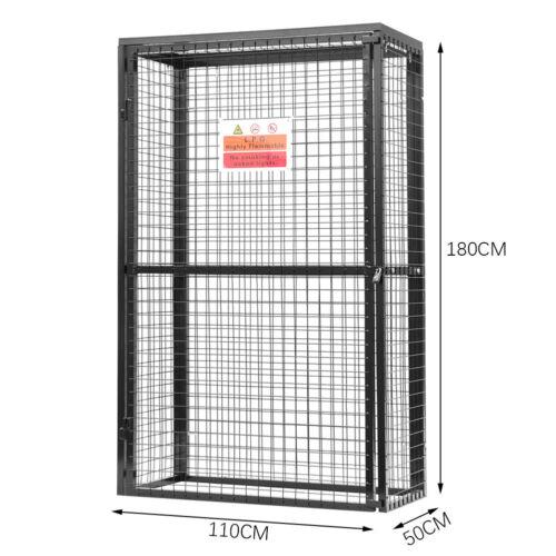 Mesh Gas Bottle Collapsible Cylinder Bottle Storage Cage w//Lock// Warning Sign UK