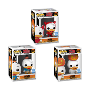 HUEY-DEWEY-amp-LOUIE-Halloween-Funko-Pop-Vinyls-New-in-Mint-Boxes-Protectors