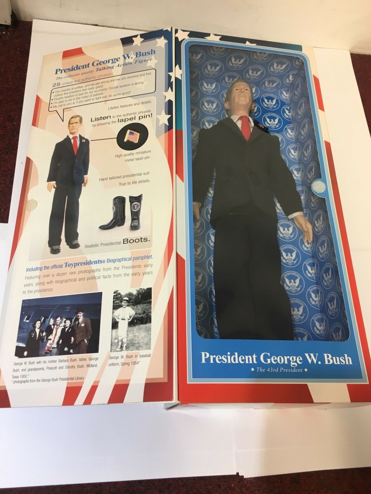 President George W.bush Talking Action Figure