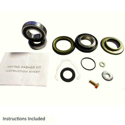 Front Loader Washer Seal-2 Bearings-Washer Kit 12002022 fits Maytag
