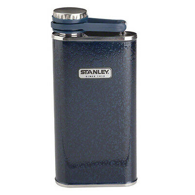 NAVY 0.23L STANLEY CLASSIC VACUUM POCKET FLASK STAINLESS STEEL LEAKPROOF THERMOS