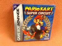 Mario Kart Super Circuit Nintendo Game Boy Advance Complete Sealed H-seam