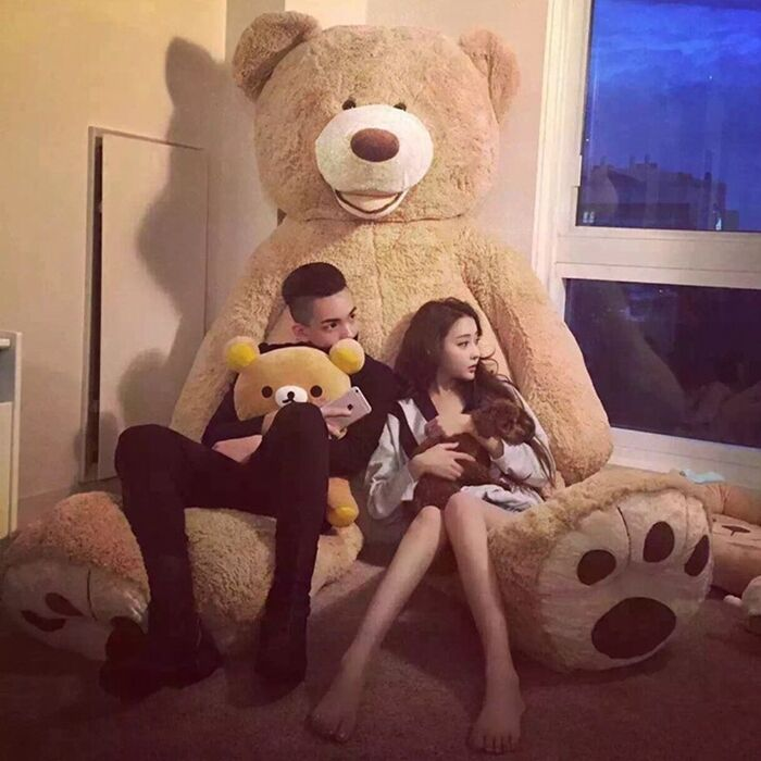 2018 Hot Large Jumbo 8 Foot 93  Teddy Bear Stuffed Plush Animal Hugfun Toy Doll