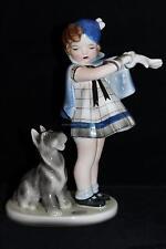 OFFER Art deco Figurine Goldscheider Wien Austria Girl Schnauzer Bouret