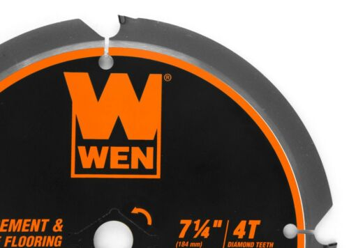 """WEN BL0704 7-1//4/"""" 4-Tooth Diamond-Tipped Circular Saw Blade for Fiber Cement"""
