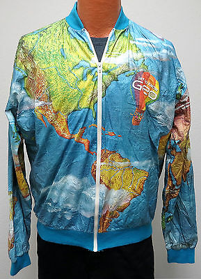 Pull over collection on ebay vtg getting to know geo car tyvek windbreaker xl 90s world map all over funny gumiabroncs Gallery