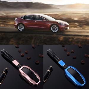Car Key Fob For Tesla Model S X Luxury Aluminum Alloy Pocket Case
