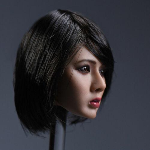YMTOYS 1//6 Asia Female Head B Short Hair Head Sculpt F 12/'/' Suntan Phicen Body