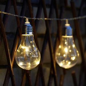 10 led solar powered edison bulb string lights garden outdoor fairy image is loading 10 led solar powered edison bulb string lights aloadofball Images