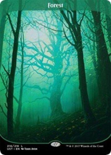 x1 English -BFG- MTG Magic Unstable Near Mint Forest 1x 216