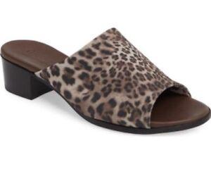0b9dc34c255f NEW!! Nordstrom Munro Women s Leopard Print Beth Slide Heel Sandal 8 ...