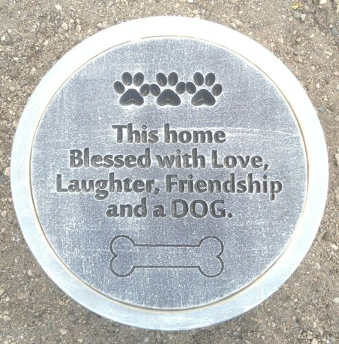 """Dog stepping stone concrete mold plaster casting mould 12/"""" x 1.5/"""" thick"""