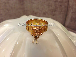 CHANEL-GOLD-PLATED-RING-CC-LOGOS-STAMPED-039-02-MADE-IN-FRANCE-sz-6-GUARANTEED-AUTH