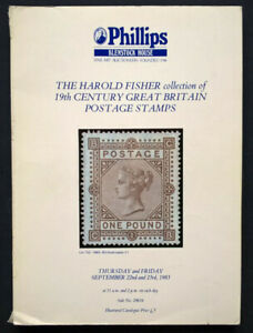 Details about Auction Catalogue HAROLD FISHER 19th CENTURY GREAT BRITAIN  POSTAGE STAMPS