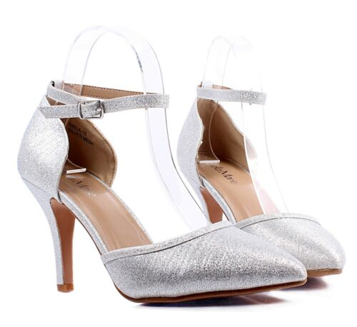 "3 Color Stilettos Ankle Strap Mary Janes Point Toe Casual Womens 3.5/"" High Heels"