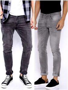 Boy-039-s-New-ex-C-amp-A-lavado-de-arena-gris-carbon-Rivet-Jeans-Pantalon-Algodon-adolescente