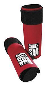"Shock Sox 10-Second Removable Fork Seal Protector for Offroad 6/"" Black Regular"