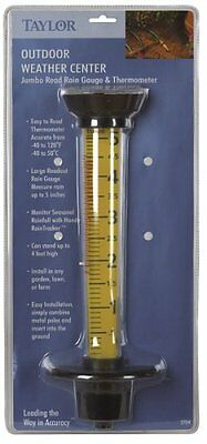 Taylor 2704 Read Rain Gauge /& Thermometer
