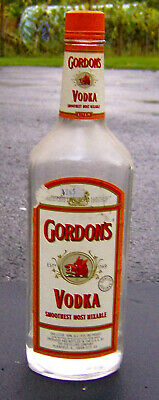 Rare Vintage 1980s Gordon S Vodka Glass Liquor Bottle Empty Retro Bar Man Cave Ebay