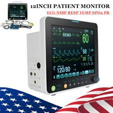 Fda 6 Parameter Patient Monitor Cardiac Monitor Ecg Nibp Resp Pr Spo2 Tempalarm