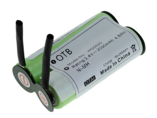 Batteria NiMH HQ 2,4V 2000 mAh ricambio Philips Philishave HS350 HS355 HS600
