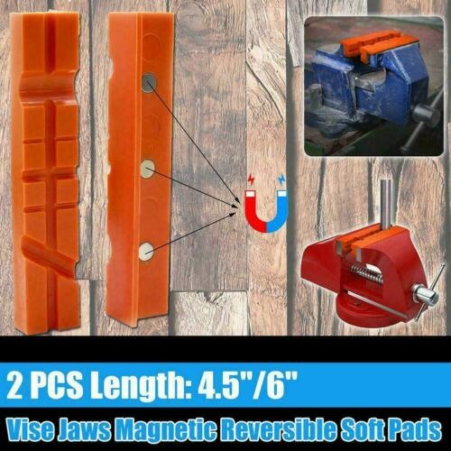 For Metal Vise Long Pad Bench Vice 1PAIRS 4.5/'/'//6/'/' Jaw Soft Magnetic Pad S7K8
