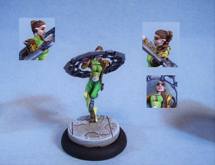 Painted miniature  cute Female Warrior   plus abordable
