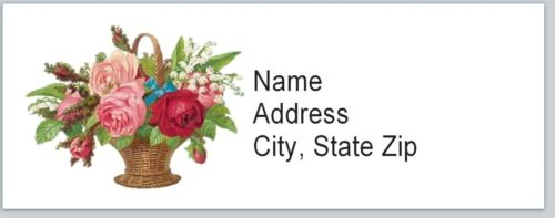 bx 530 Personalized Address Labels Vintage Flowers Buy 3 get 1 free