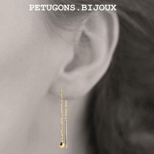 """Boucles d/'oreilles traversantes/""""Boules/""""plaqué or 750//000 garanti sans nickel"""
