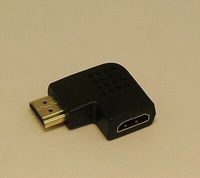 2X HDMI Right Angle Port Saver Adapter M to F 270 Degree Vertical #101575A