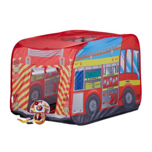 Tenda gioco per bambini pompieri pop up auto vigili del fuoco outdoor da 3 anni