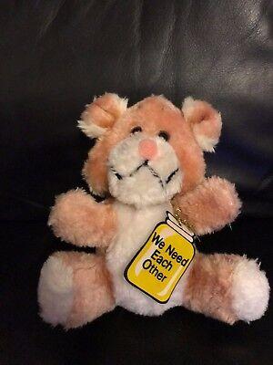 Di Animo Gentile Russ Berry 7 Pollici Color Panna/rosa Finta Pelliccia Teddy Bear In Buonissima Condizione-