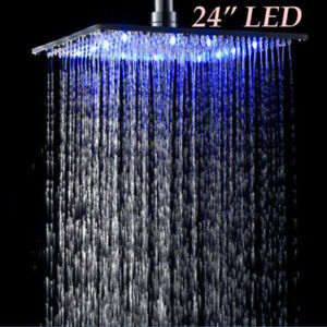 Image Is Loading Luxury Rainfall Shower Solid Br Head With