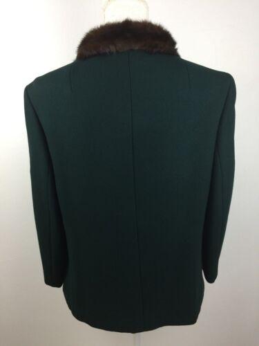Størrelse Fur Uld Krave Foret M Vintage Mørkegrøn Jakke Med Fuldt Pqn8nU6Yv