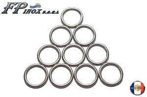 Anneaux inox 316 Rond 6 x 40 mm intérieur ( Lot de 10 ) inox A4