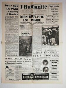 N1240-La-Une-Du-Journal-L-039-humanite-8-mai-1954-bien-bien-phu-est-tombe