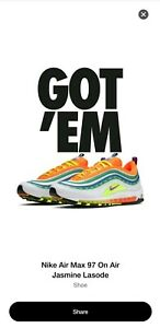 separation shoes 976b6 f63a4 Image is loading Nike-Air-Max-97-Jasmine-Lasode-On-Air-