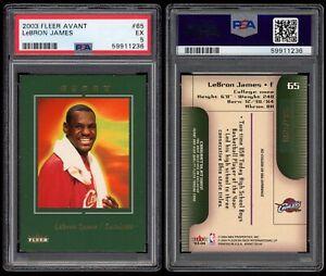 2003-04 Fleer Avant LeBron James RC SP #/699 Serial Numbered PSA 5 Rookie Card