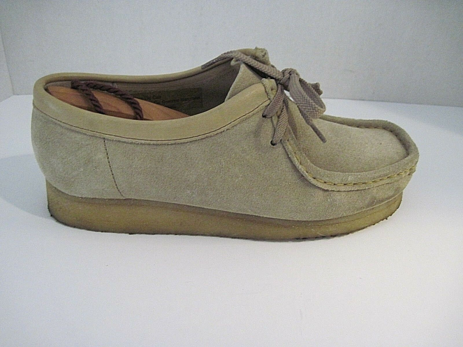 Clarks Originals Wallabee 35395 Sand Suede Crepe Sole Desert shoes Women's 8 M