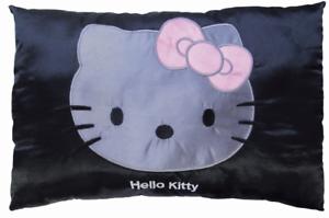 Kinderkissen Kissen Satin Hello Kitty schwarz 28x42cm