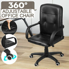 Executive Mid Back Office Chair Gaming Computer Desk Chairs Leather Swivel Seat