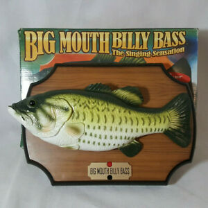 1999-Gemmy-Big-Mouth-Billy-Bass-Singing-Fish-Sensation-Don-039-t-Worry-Be-Happy